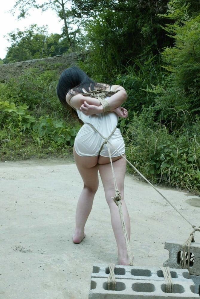 Chubby girl in bondage-7594
