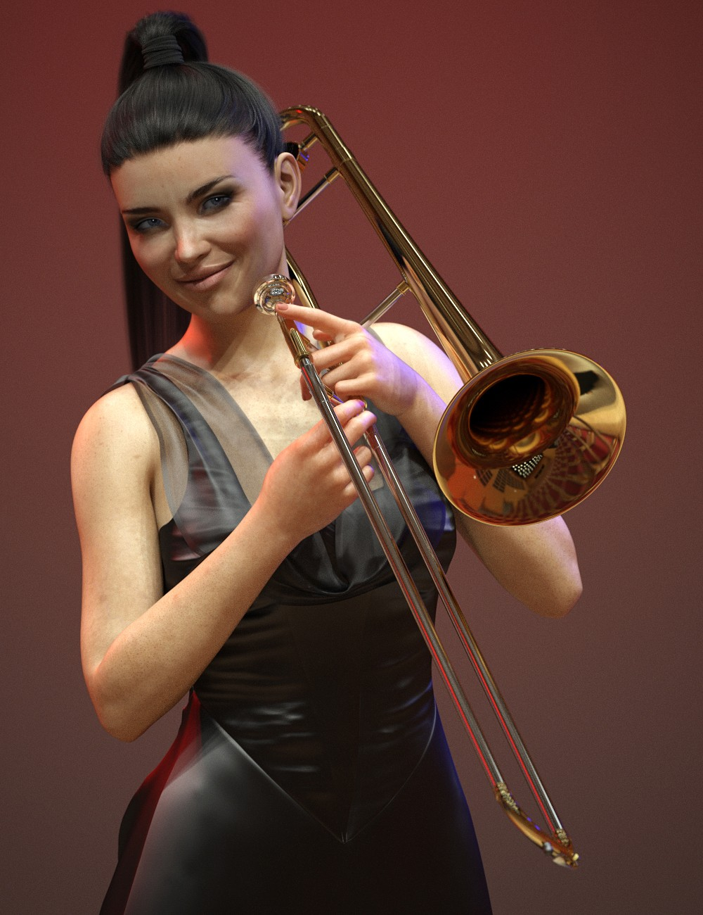 HD Trombone and Poses for Genesis 8