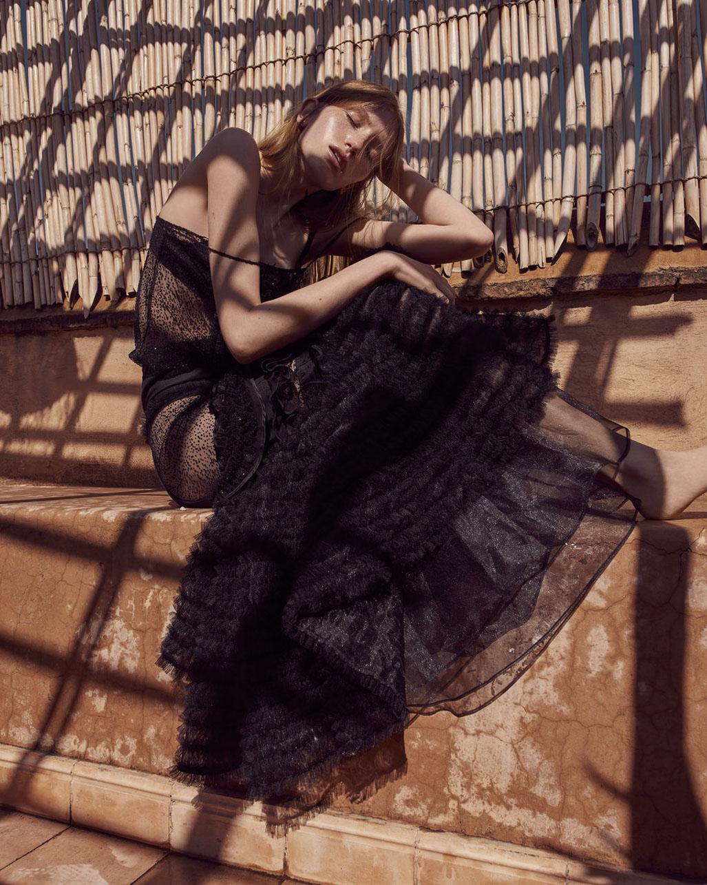 Linda Novotna by Andreas Ortner - Harpers Bazaar Czech april 2018