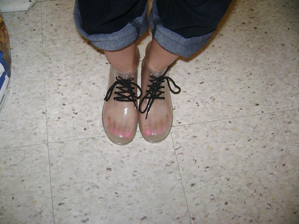 Short red rain boots-8364