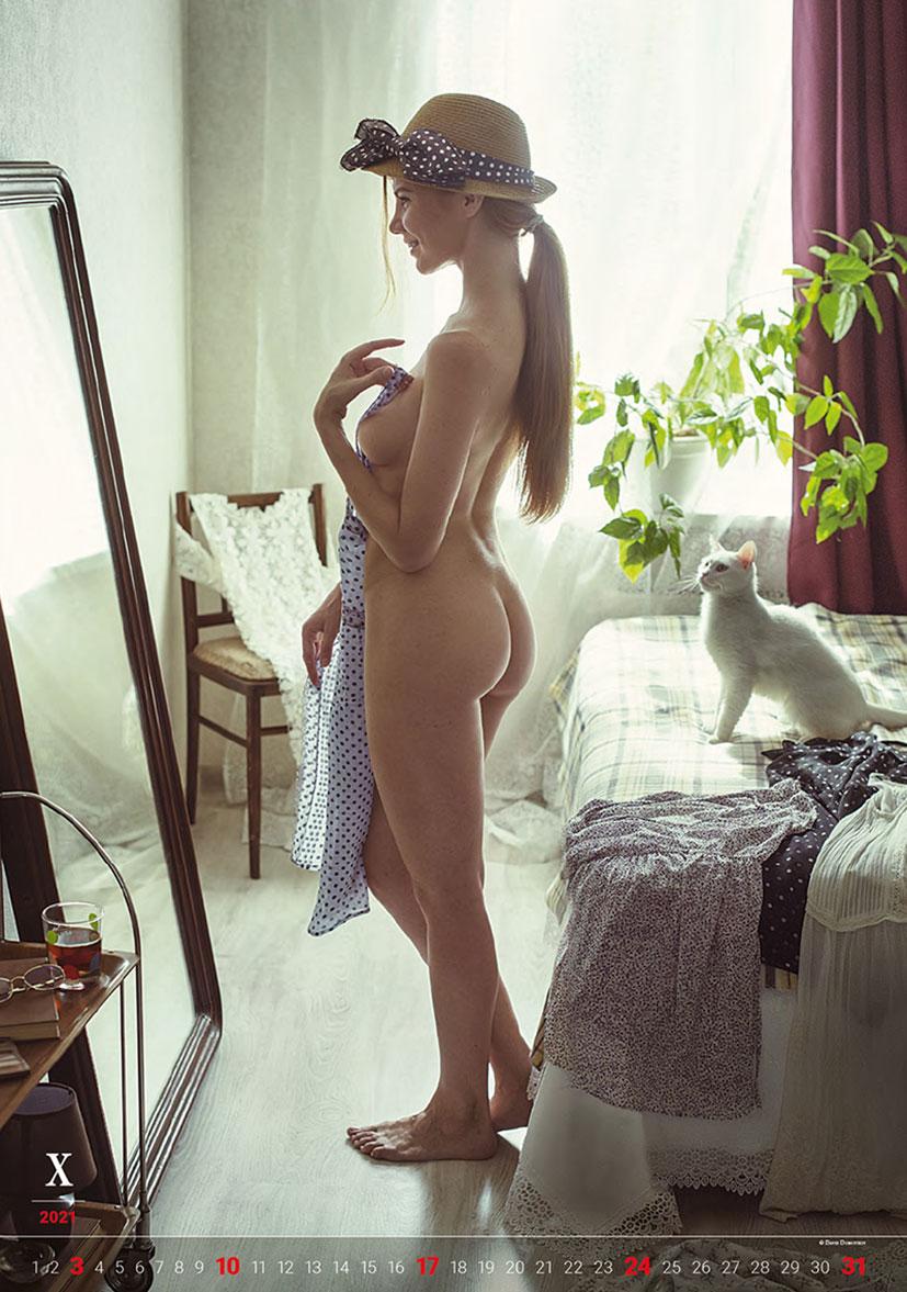 Эротический календарь -Очарование момента 2021- фотографа Давида Дубницкого / октябрь