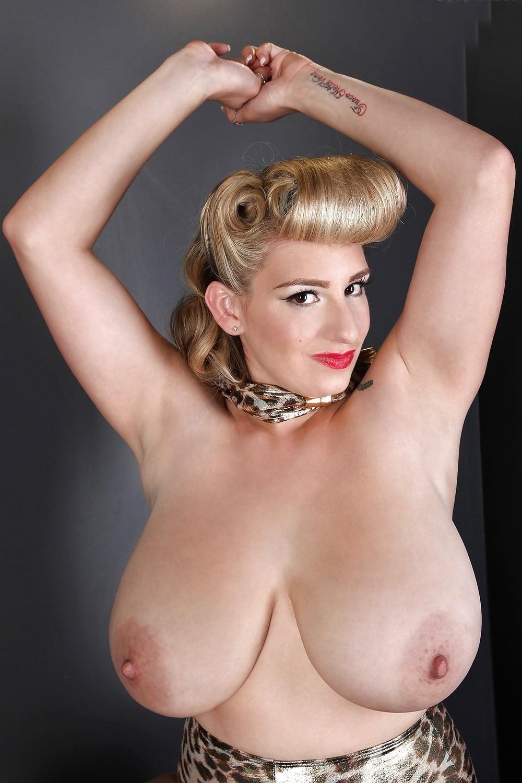 Blonde big tits selfie-4976