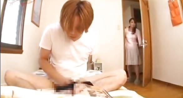 Japanese mom caught masturbating-5744