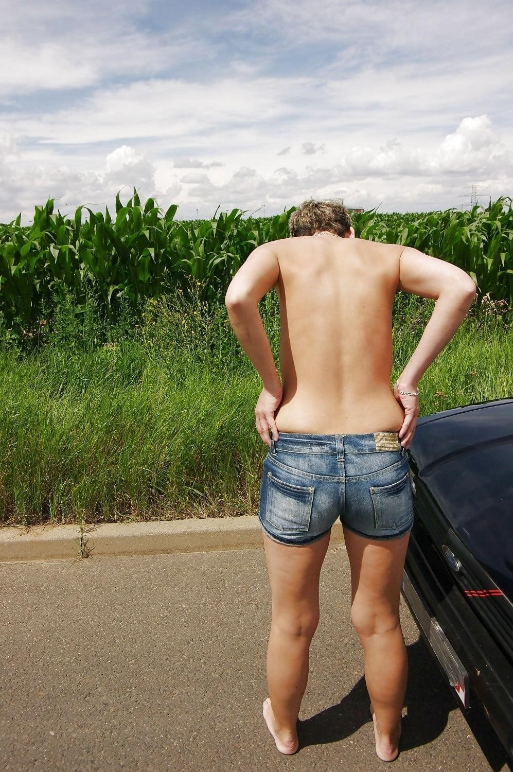 Naked girl with jeans-4232