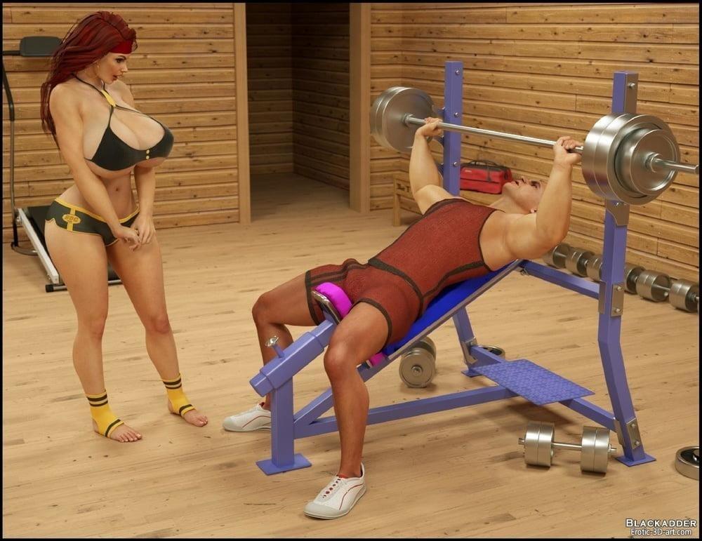 Pornhub in the gym-6443