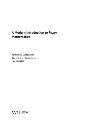 A Modern Introduction to Fuzzy Mathematics