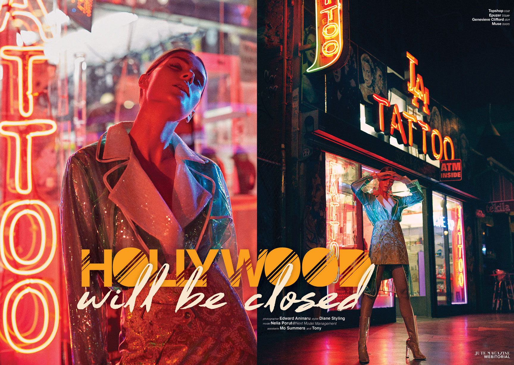 Hollywood Will Be Closed / Nelia Porut by Edward Aninaru