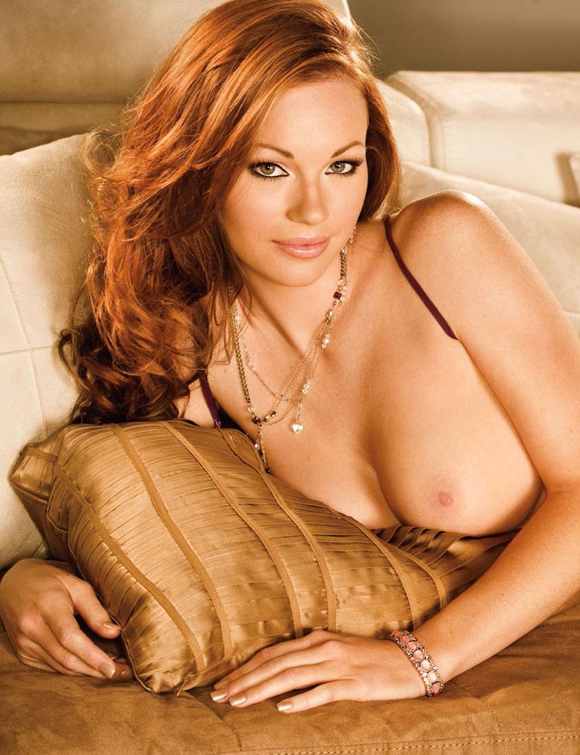 рыжие сексуальные красавицы в журнале Playboy - Kimberly Phillips