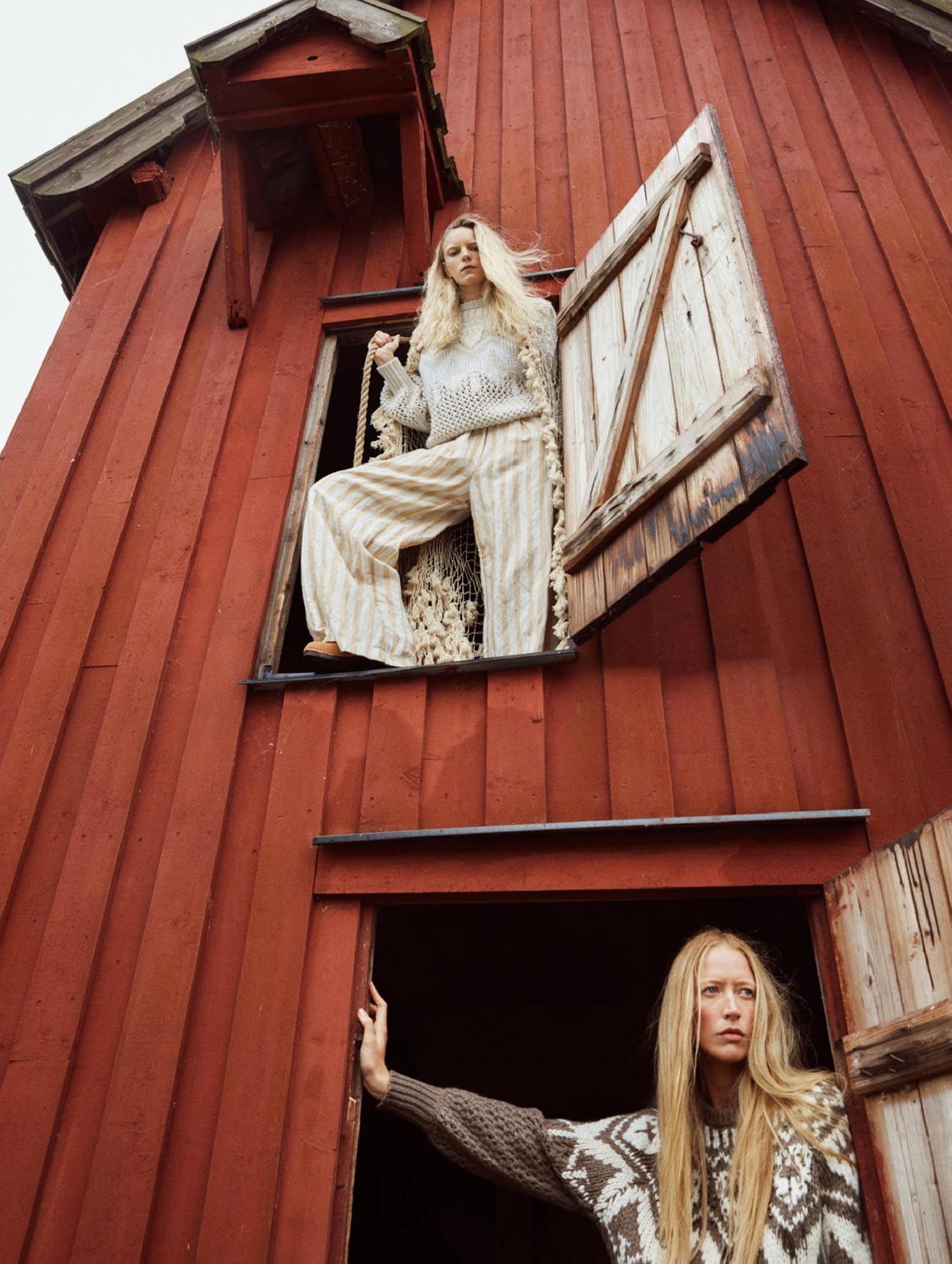Бразильская модель в гостях у шведской - Эрика Линдер и Ракель Циммерман / фото 03