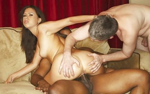 Husband watches wife interracial-6518