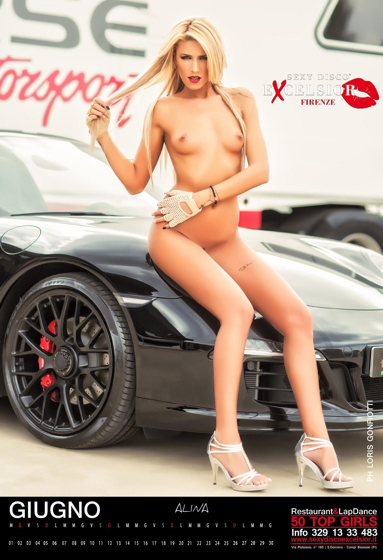 эротический календарь ночного клуба Sexy Disco Excelsior 2016 calendar - Alina