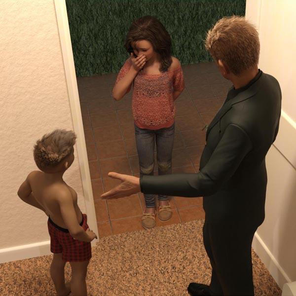 [Krogue] The Babysitter - Natasha (comic, eng)