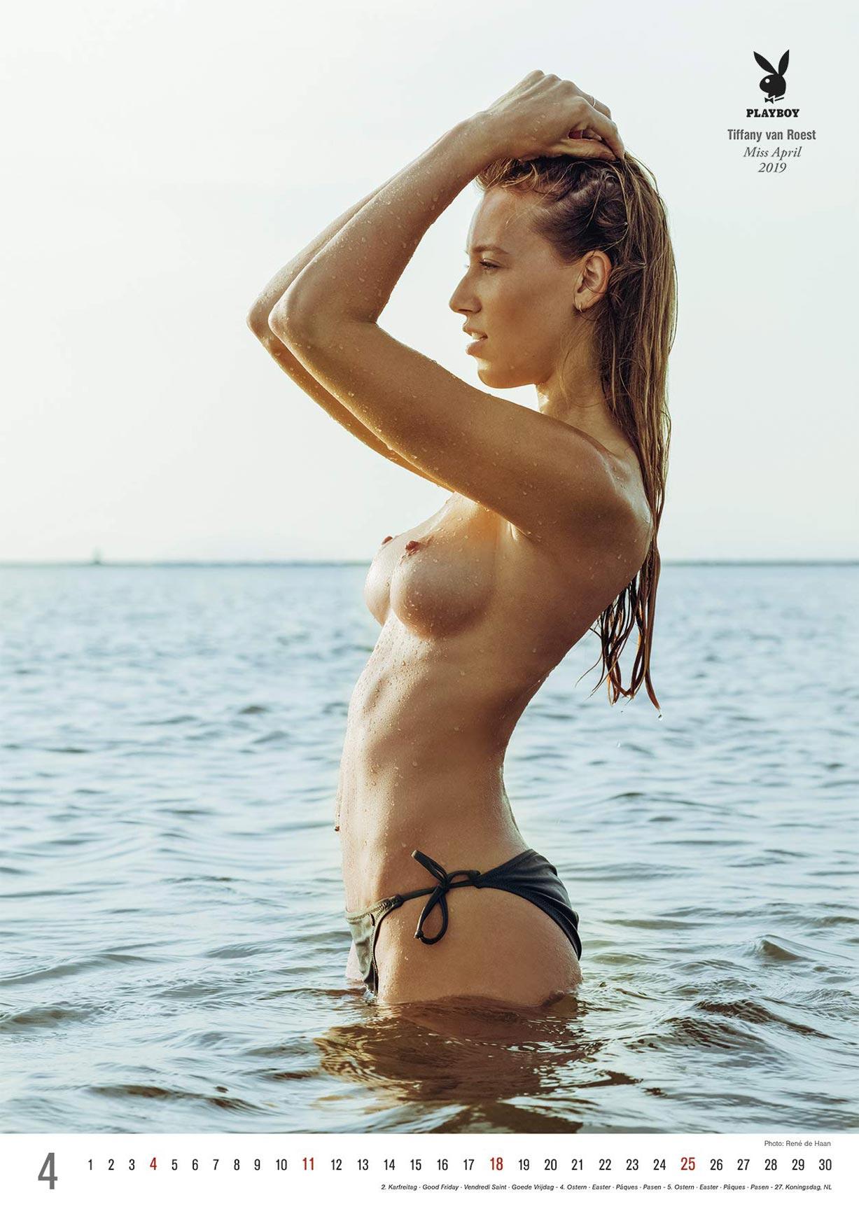 Эротический календарь журнала Playboy Германия на 2021 год / апрель