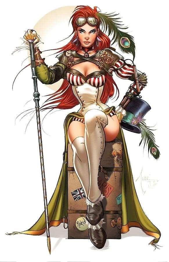 Steampunk hats female-6682