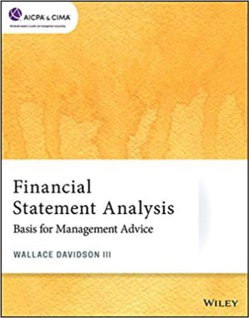 Financial Statement Analysis   Basis for Management Advice