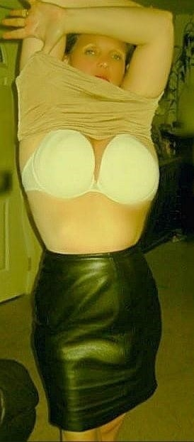 Tu leather skirt-3180
