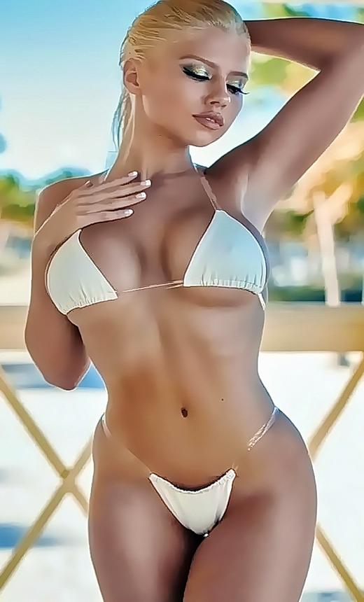 Beautiful Blonde Erotic Girl Photography