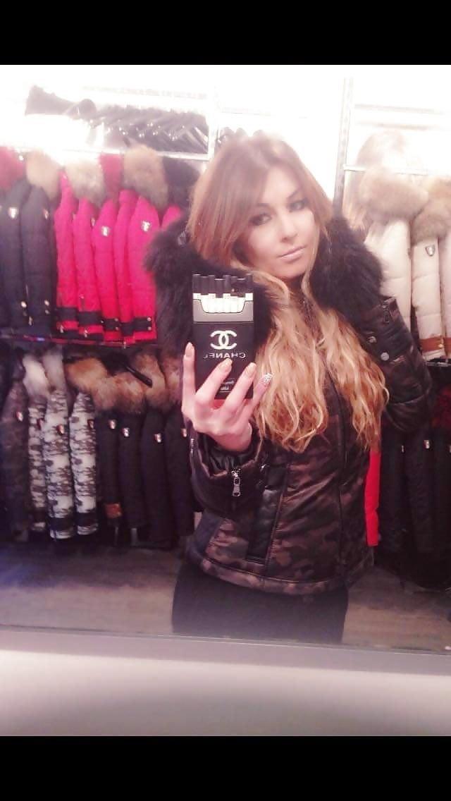 Jean jacket with brown fur-3183