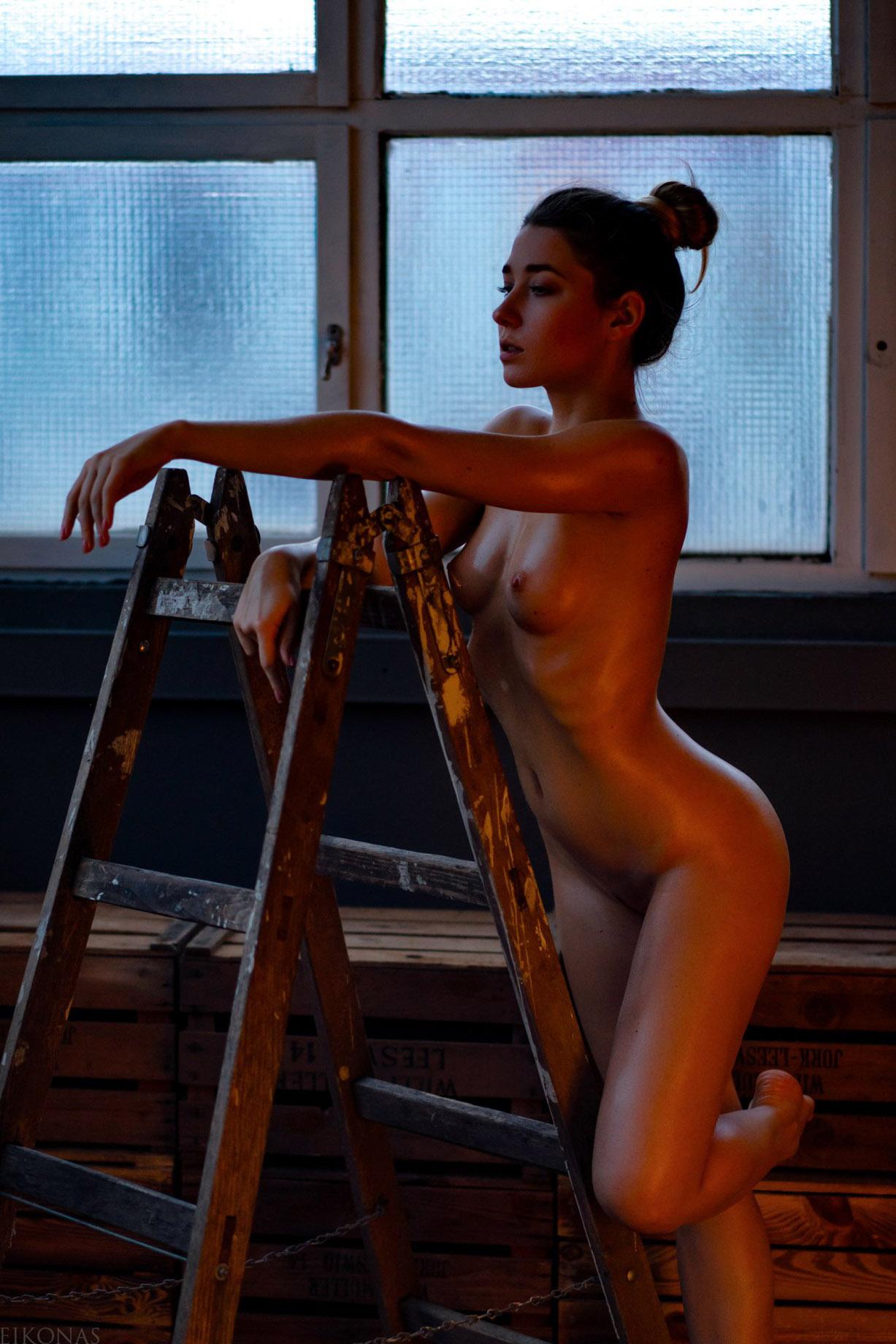 The Ladder / Kseniia Kufeld by Gunther Achleitner