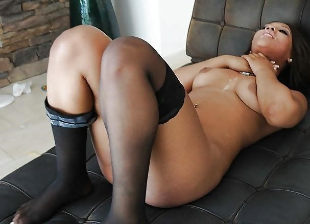 Ebony rough anal-9348
