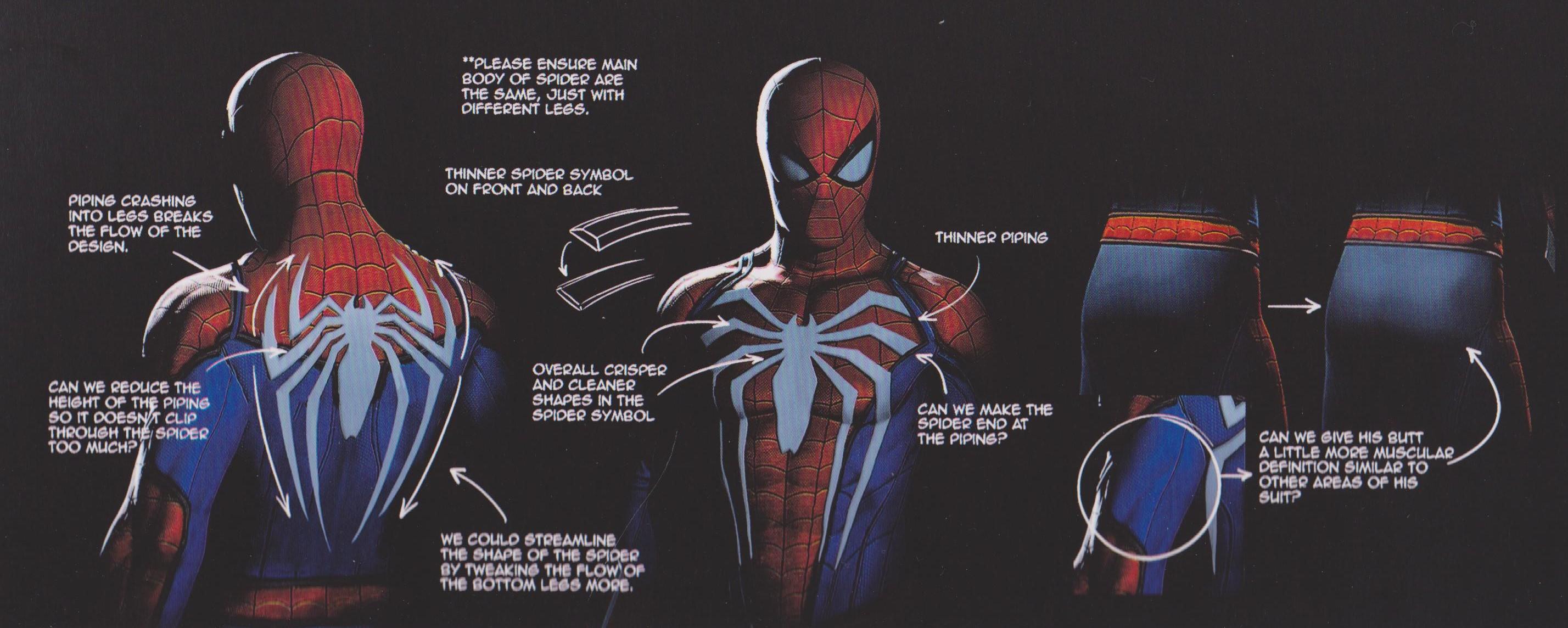 SPIDER,MAN PS4 Concept Art Reveals Alternate Designs For The