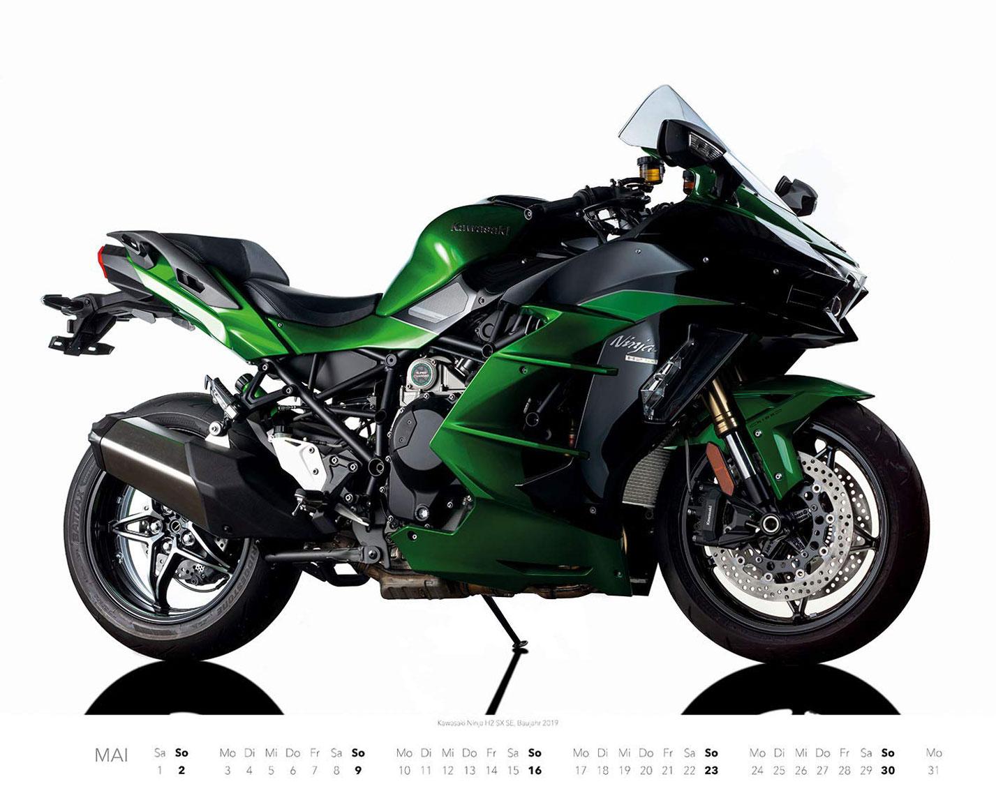 Календарь с крутыми мотоциклами на 2021 год / май