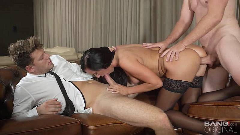 Katie Dee – Katie Dee Gets Her Holes Ravaged By Two Dicks – Bang! Glamkore [HD]