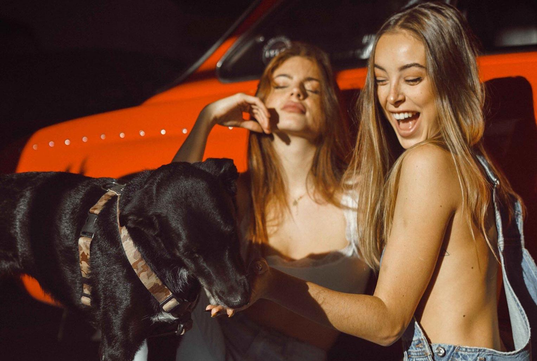 Девчонки развлекаются в гараже / фото 01