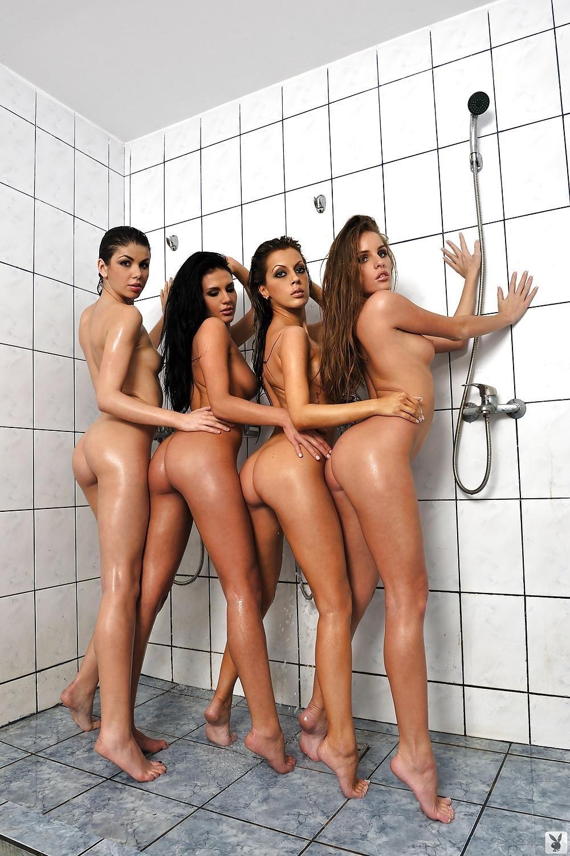Girls naked playing football-9088
