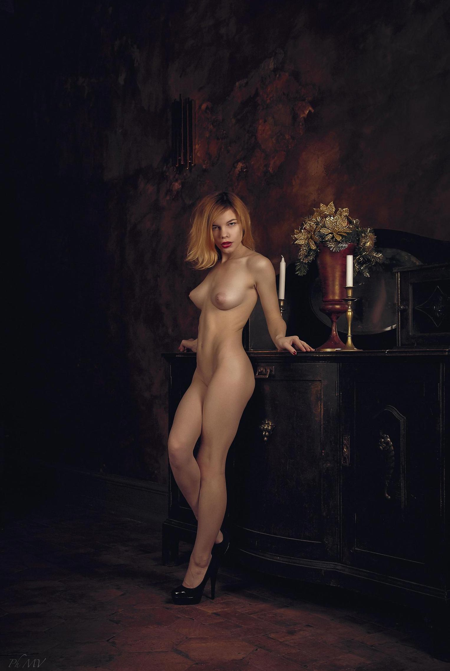 голая Мария Зайцева в старом профессорском доме / фото 08