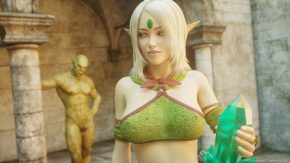 Sexy anime elf girl-5122