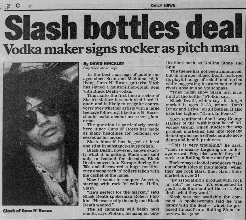 1992.03.13 - New York Daily News - Slash bottles deal (Slash) CSqdzZK5_o