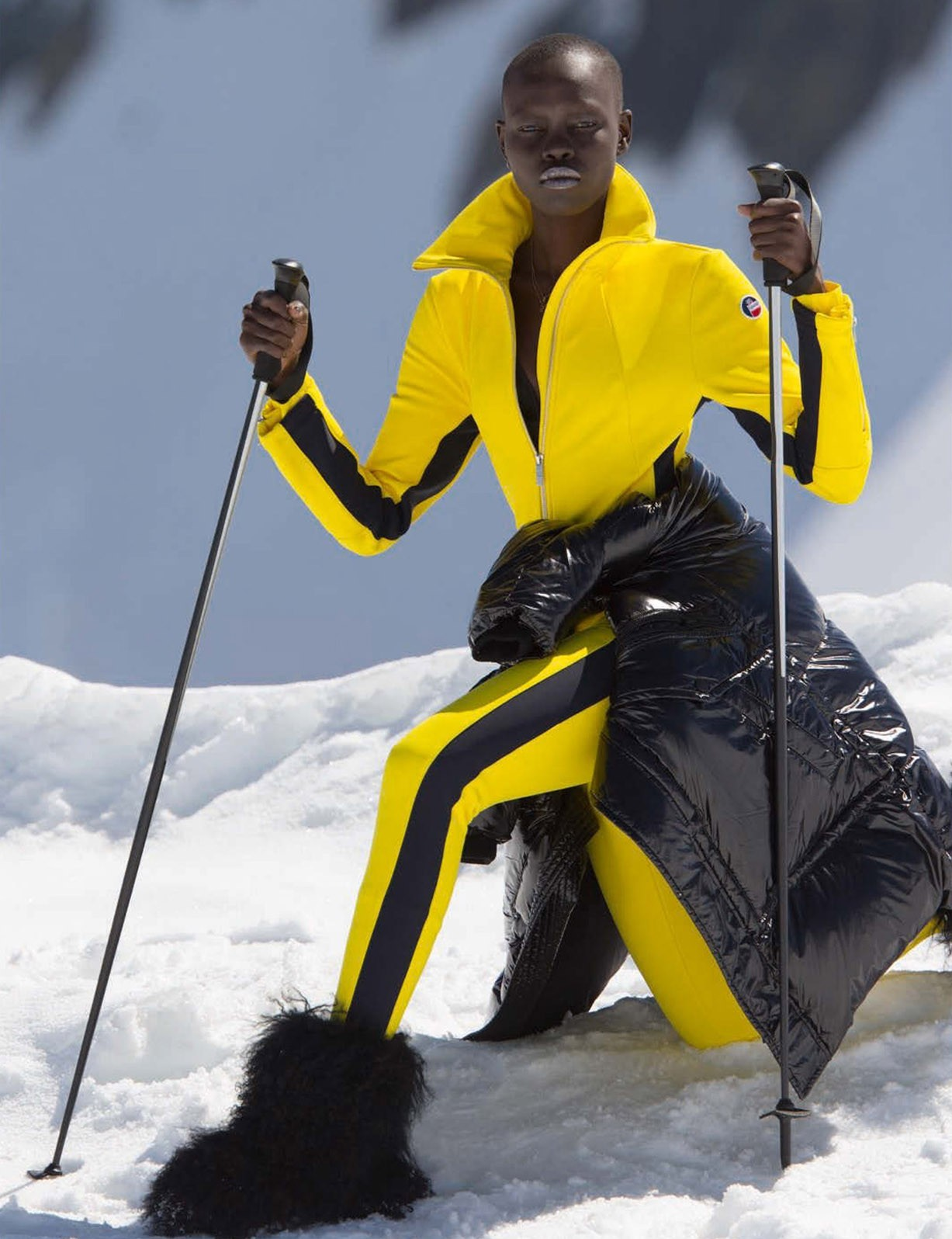 Grace Bol by Hans Feurer - Vogue Germany december 2017