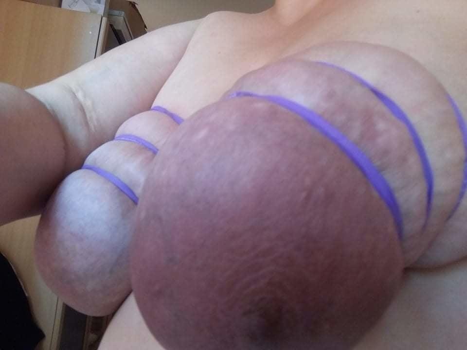 Self breast bondage-3562