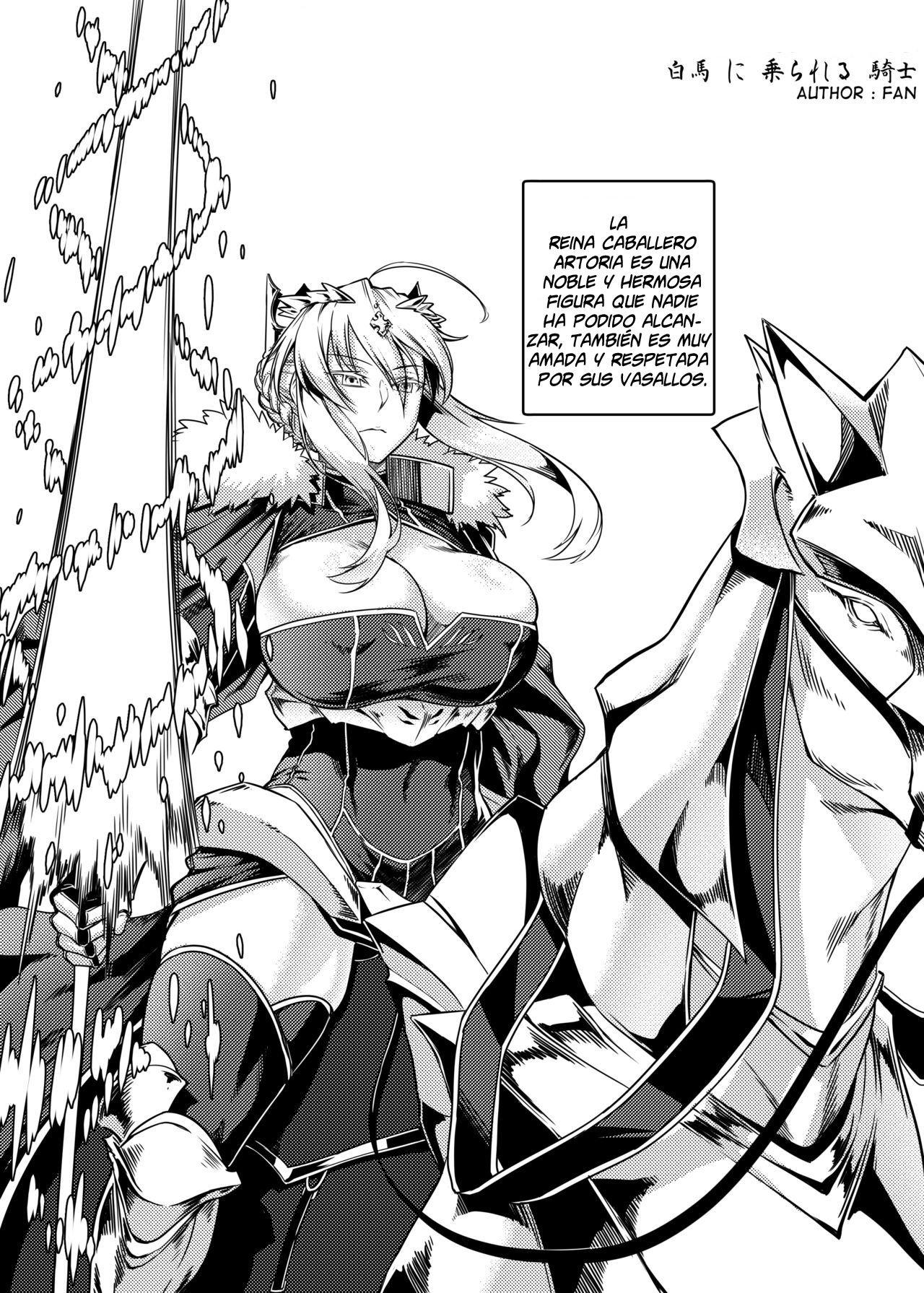 Caballo blanco montado por un caballero (Fate Grand Order) - Fan - 1