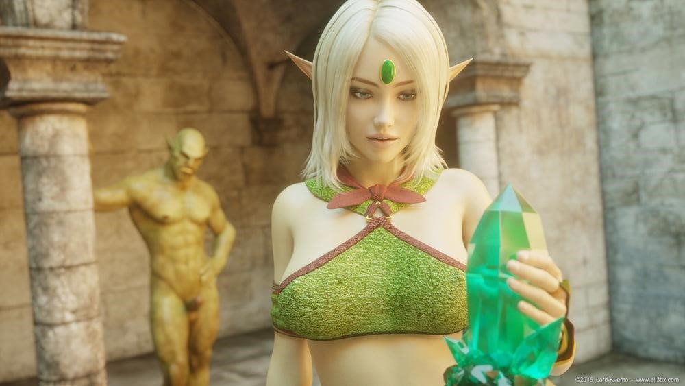 Sexy anime elf girl-9854