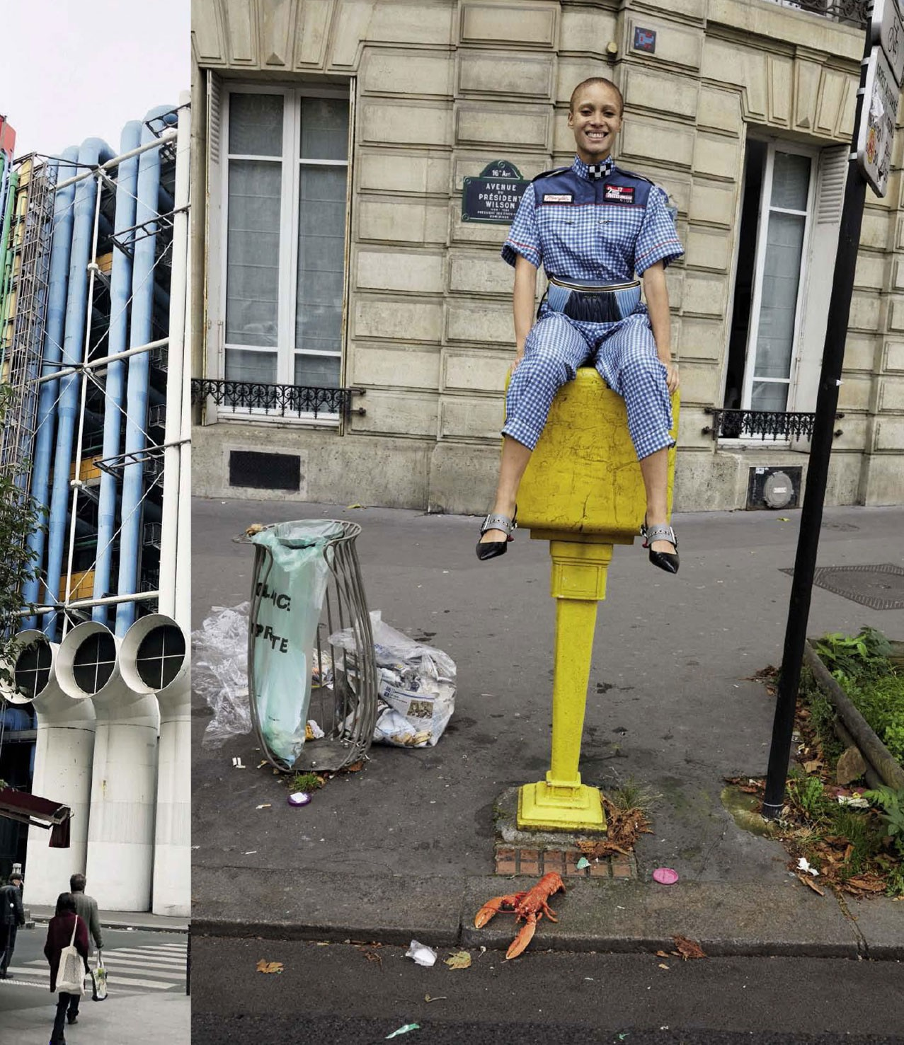 Adwoa Aboah in Paris by Juergen Teller - Vogue Italia december 2017