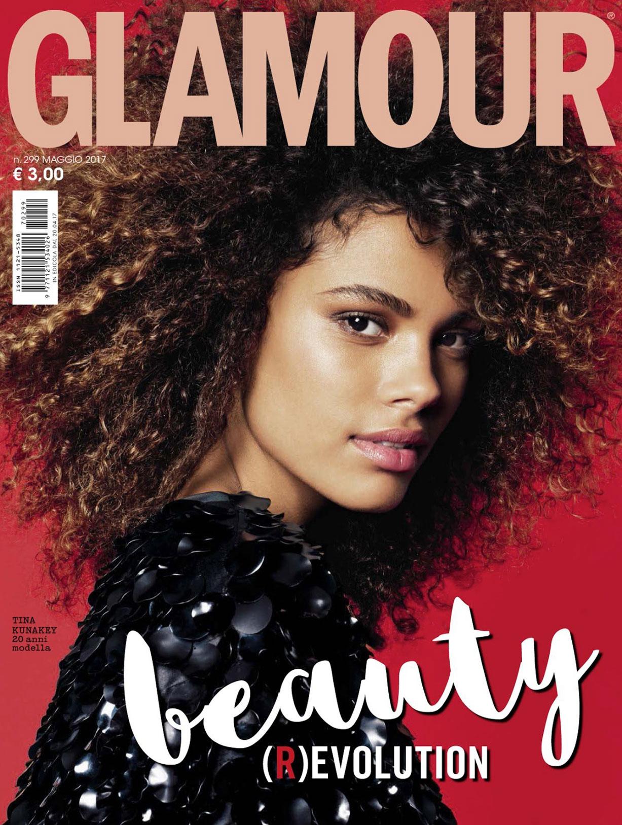 Тина Кунаки в журнале Glamour Италия, май 2017 / обложка