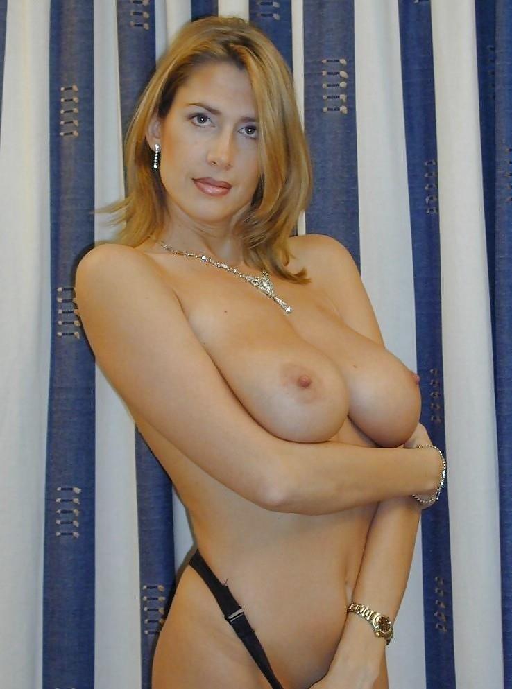 Hot big tits blonde milf in first porn mompov-8854