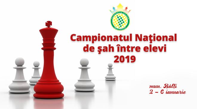 Campionatul Naţional de şah între elevi 2019