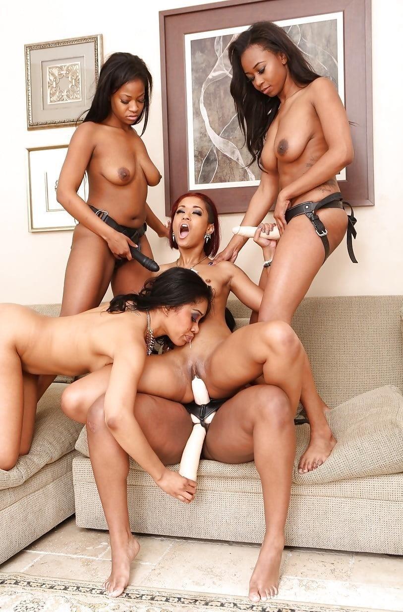Black lesbian squirting orgy-3979