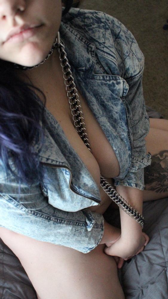 Jean jacket and leggings-4509