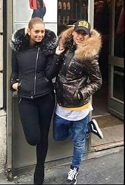 Jean jacket with brown fur-5033