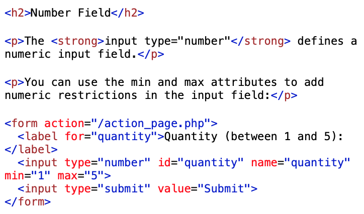 number type input coding