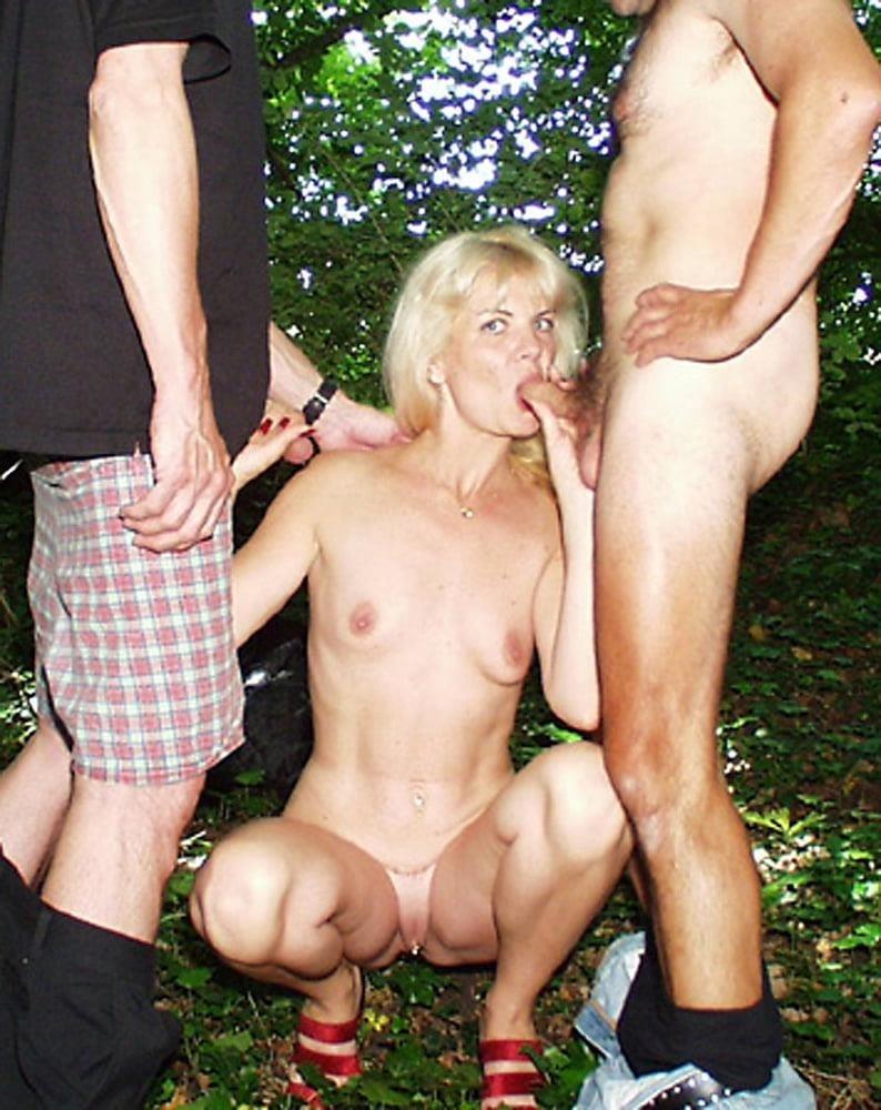 Outdoor threesome sex-9696