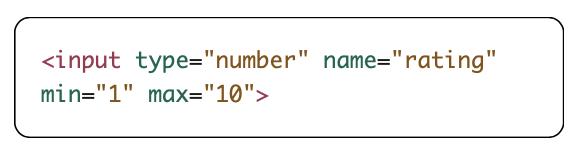 minimum and maximum attribute example