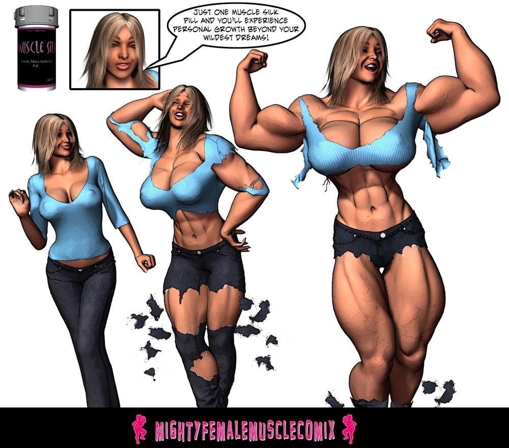 Female muscle big clit-5847