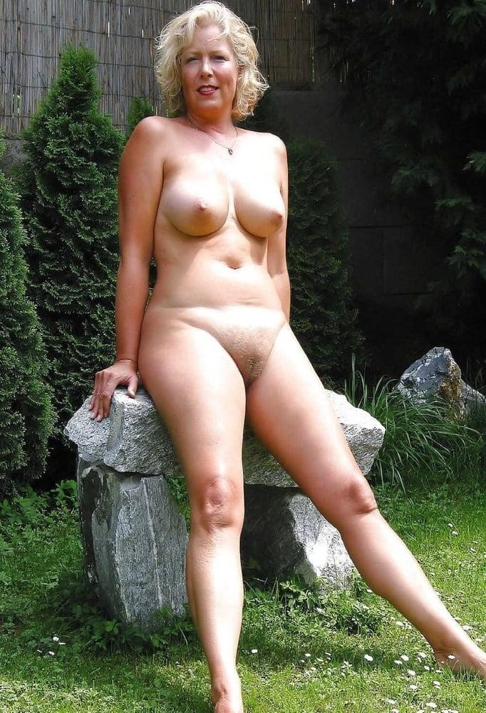 Naked wife in the woods-2147