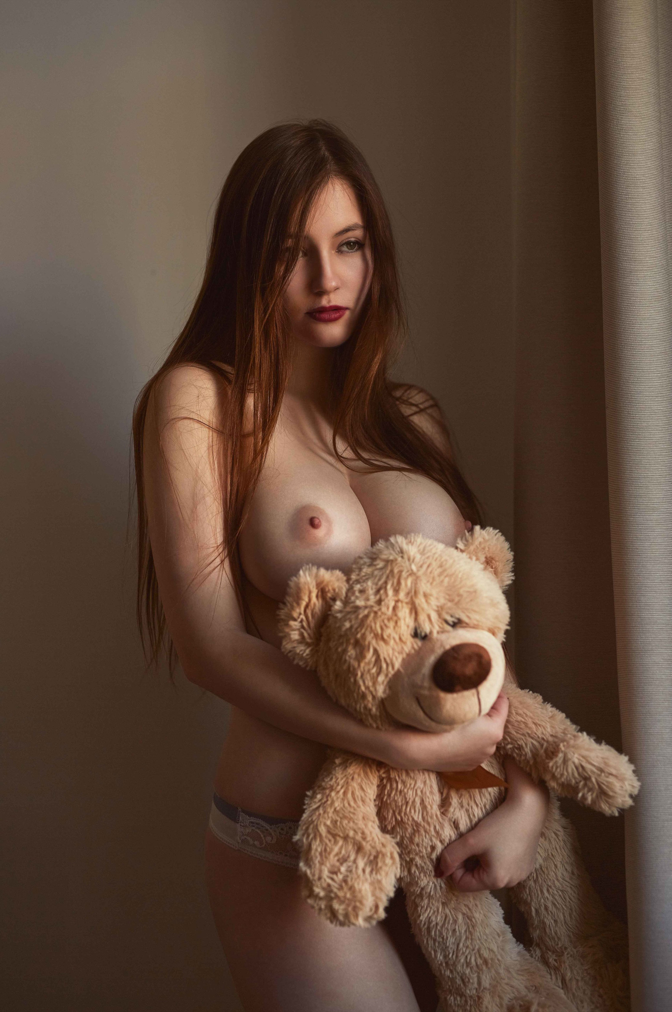 TeddyBear and Mia Schmidt nude by Martin Strauss
