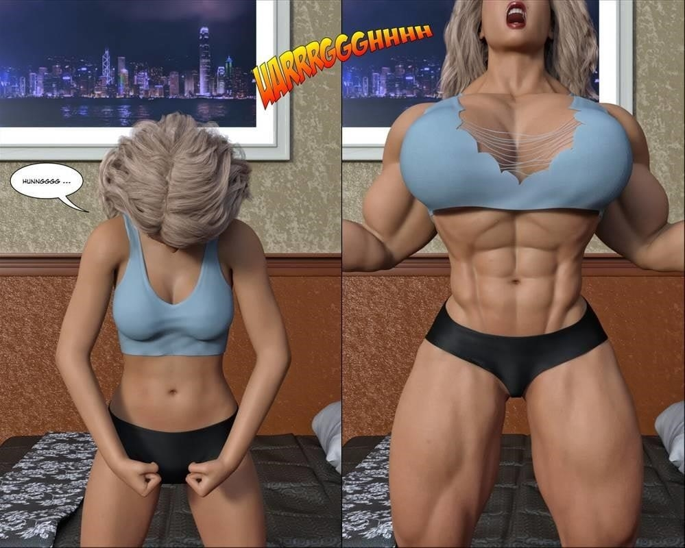 Female muscle big clit-3512